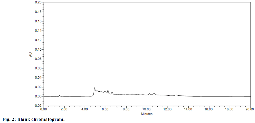 ijps-Blank-chromatogram